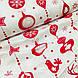 Ткань хлопковая новогодняя, длинные красные игрушки на белом, фото 4