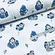 Ткань польская хлопковая Люкс, машинки сине-серые на белом, фото 3