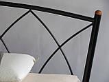Кровать металлическая Жасмин  1/ Jasmine двуспальная 160 (Метакам) , фото 6