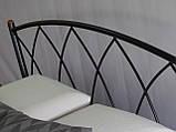 Кровать металлическая Жасмин  1/ Jasmine двуспальная 160 (Метакам) , фото 7
