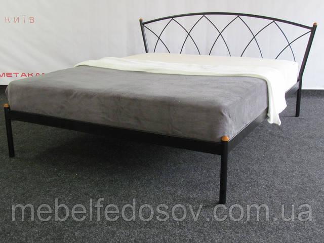 металлическа кровать жасмин метакам