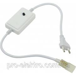 500W-Micro-N Кабель подключения ленты 220В с микро контроллером RGB, 8 режимов работы