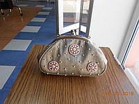 Вечерняя сумка телесного цвета ручной рабоы, расшитая бисером, Kaprizz, фото 1