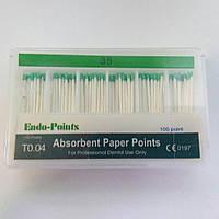 Штифты бумажные абсорбирующие (Absorbent Paper Points), №35 100шт, Endo-Points