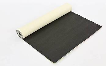 Коврик для йоги Джутовый (Yoga mat) двухслойный 3мм Record FI-7156-3, фото 3