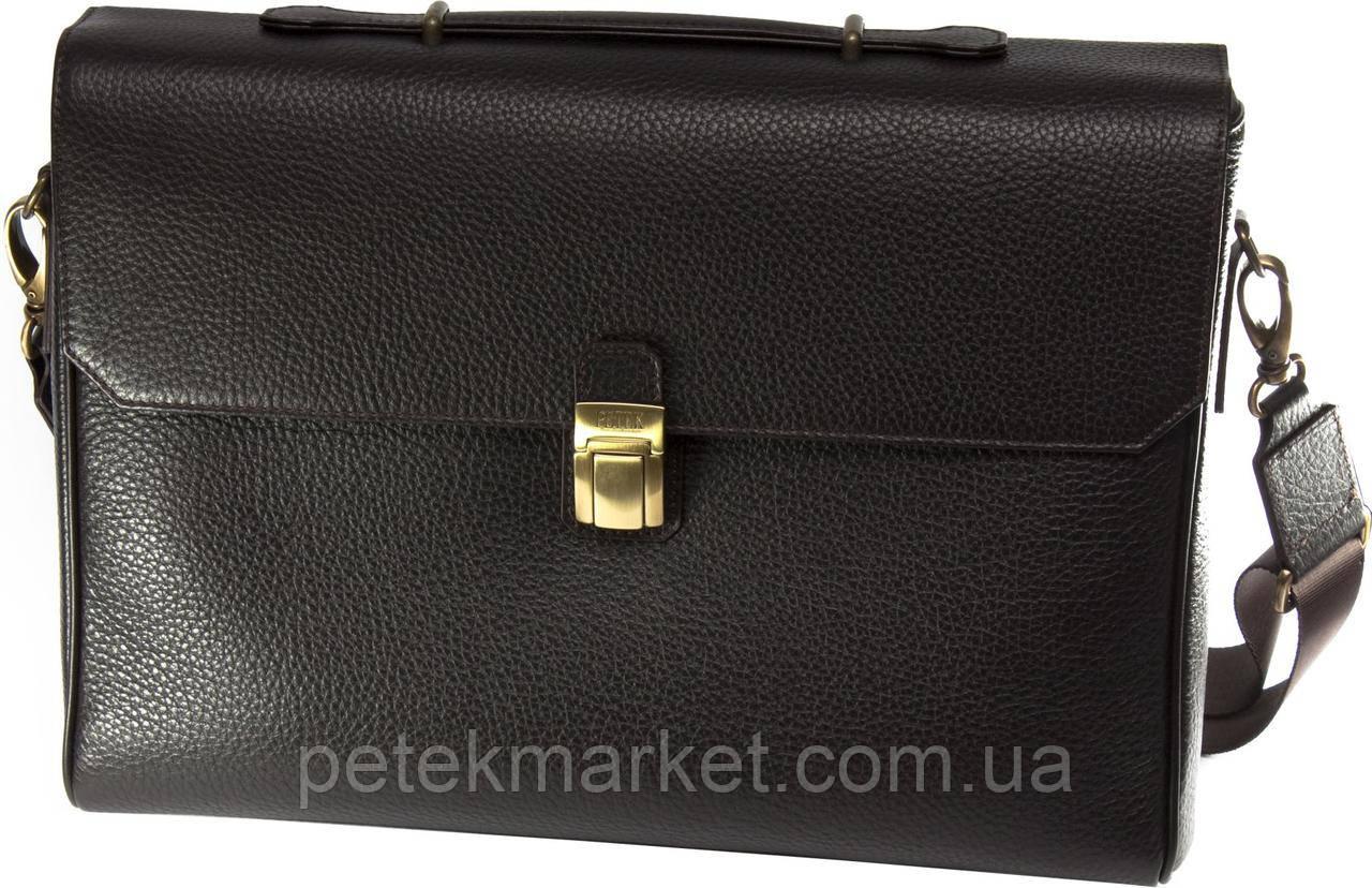 Кожаный портфель Petek 3879