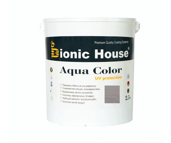 Краска для дерева Bionic-House Aqua Color UV-protect 2,5л Пепел А117