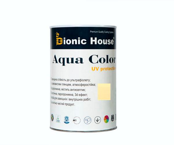 Краска для дерева Bionic-House Aqua Color UV-protect 0,8л Слоновая кость А102