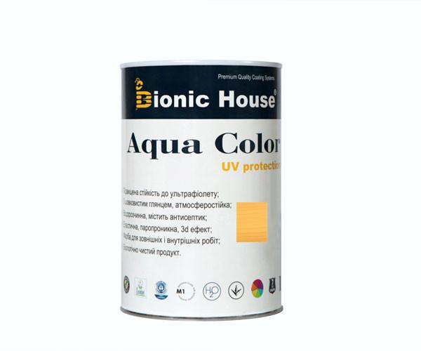 Краска для дерева Bionic-House Aqua Color UV-protect 0,8л Светлый дуб А126
