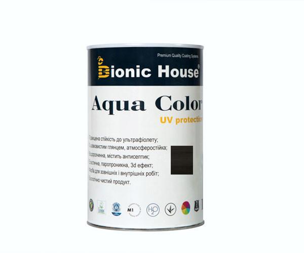 Краска для дерева Bionic-House Aqua Color UV-protect 0,8л Черное дерево А120