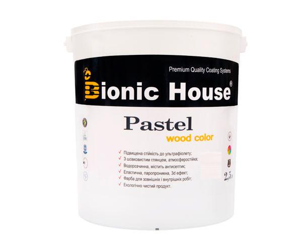Краска для дерева PASTEL Wood Color Bionic-House 2,5л Арктик Р201