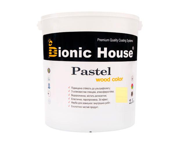 Краска для дерева PASTEL Wood Color Bionic-House 2,5л Цитрус Р219