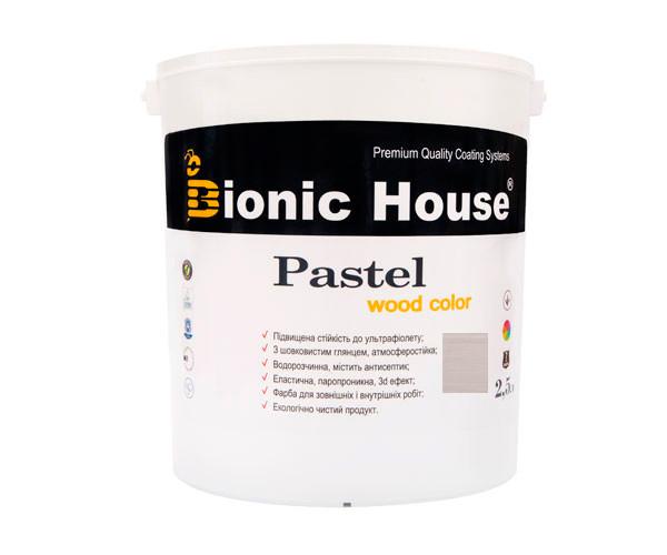 Краска для дерева PASTEL Wood Color Bionic-House 2,5л Грей Р217