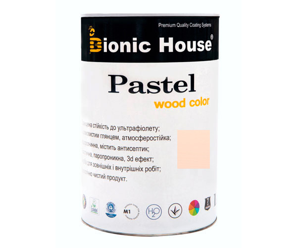 Краска для дерева PASTEL Wood Color Bionic-House 0,8л Зефир Р205