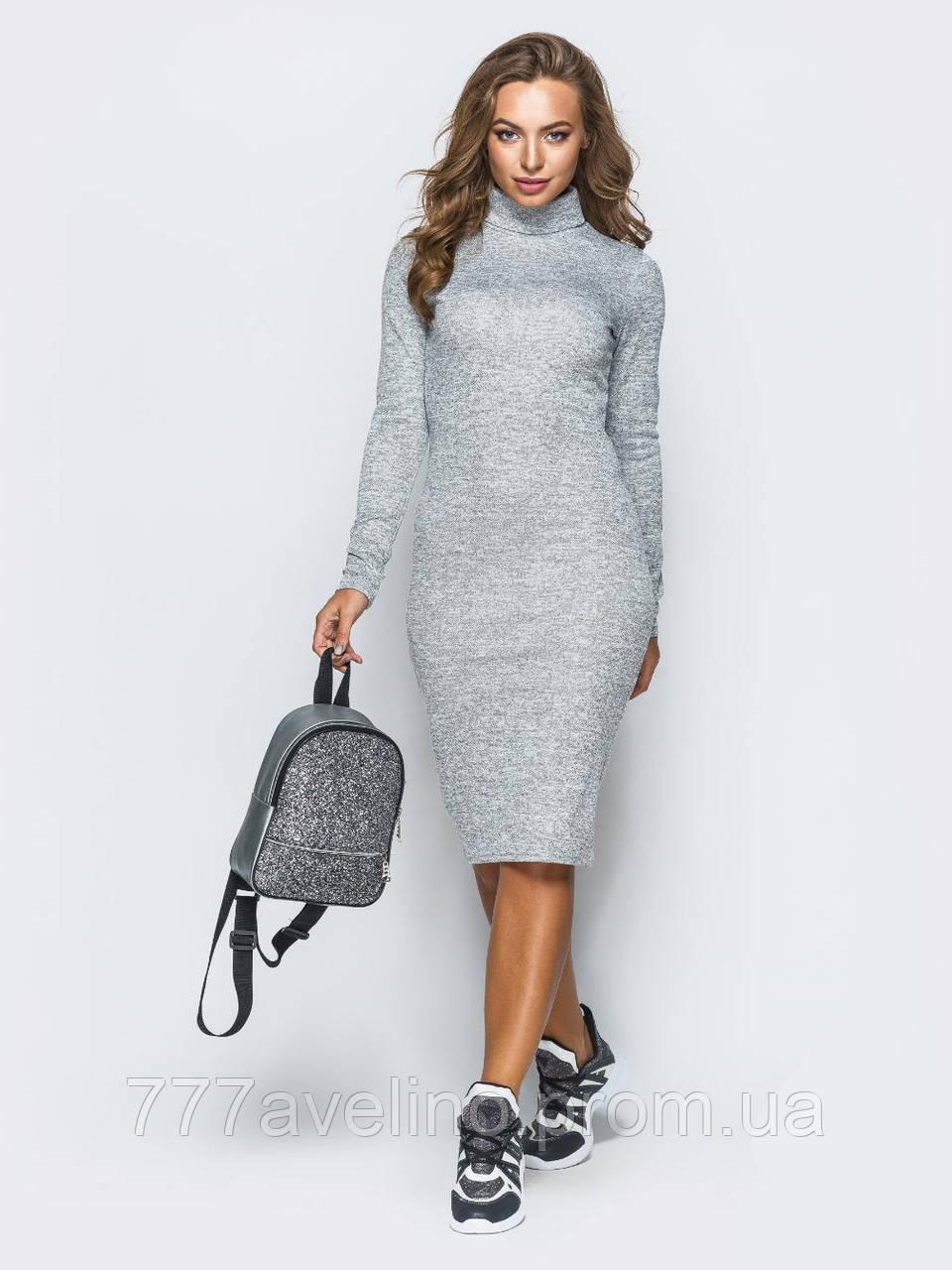 Платье гольф  модное платье водолазка