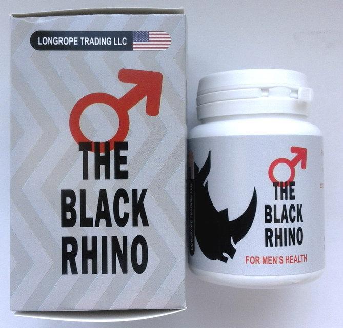 Black Rhino - Капсулы для восстановления потенции (Блэк Рино), 10 шт