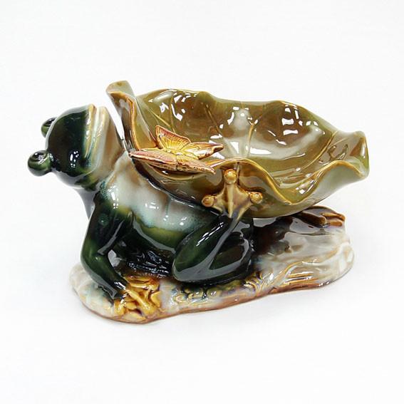 Керамическая фруктовница Лягушка настольная