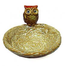 Конфетница настольная Сова керамика