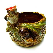 Керамическая конфетница Совы на гнезде