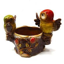 Конфетница для декора Совы на пеньке керамика