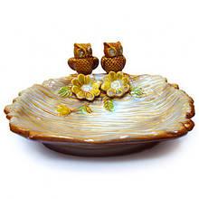 Настольная конфетница Совы из керамики