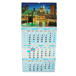 Календарь настенный квартальный на 2019 г. Ночной город