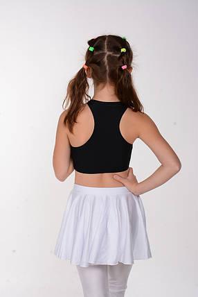 Спортивный детский топ для девочки Черный  на объем 50 - 80 см, фото 2