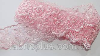 Кружево органза-шитье 44 мм (розовый)