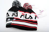 Брендовая шапка FILA с бубоном