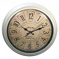 Часы кварцевые настенные круглые деревянные