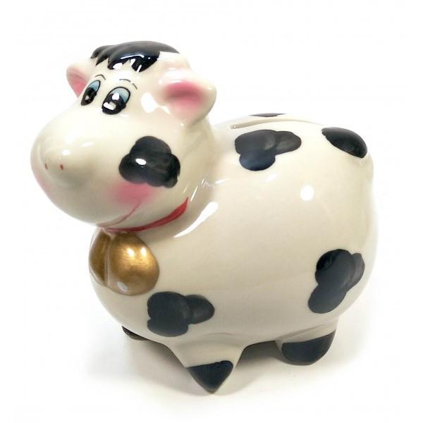 Копилка из керамики Корова подарочная