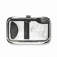 Ланчбокс прямоугольный Bento Box Black+Blum (белый-черный), фото 4
