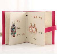 Шкатулка для сережек планшетка Книга розовая, фото 1