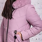 Женское зимнее батальное пальто 2018-2019 - (модель кт-335), фото 2