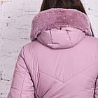 Женское зимнее батальное пальто 2018-2019 - (модель кт-335), фото 4