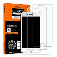 Защитное стекло Spigen для iPhone 8 Plus SLIM HD (055GL22383 )+ Бесплатная поклейка , фото 1