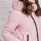 Женское пальто с экомехом зима 2019 - (модель кт-361), фото 5