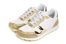 Кросівки жіночі Pretty white gold 39