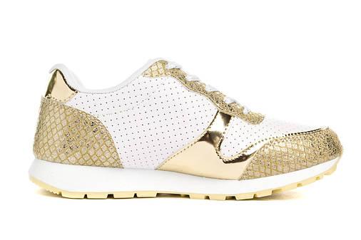 Кросівки жіночі Pretty white gold 39, фото 2