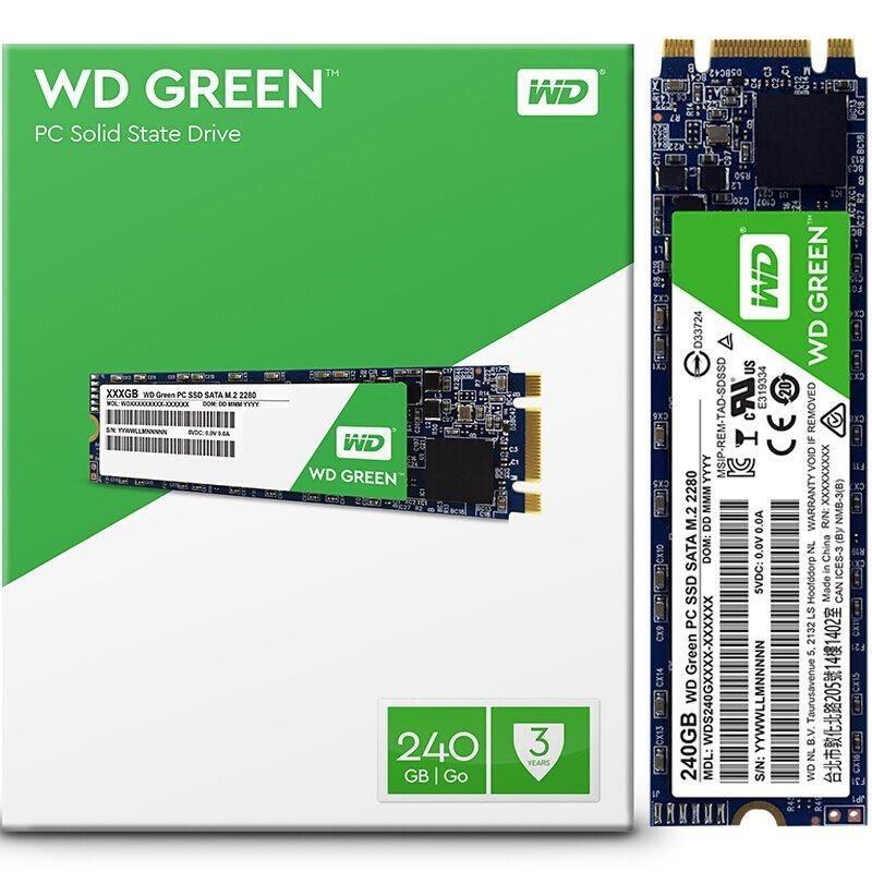 """SSD накопитель Western Digital Green SSD 240GB M.2 2280 SATAIII TLC (WDS240G1G0B) """"Over-Stock"""""""