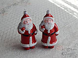 """Елочная игрушка фигурная """"Дед мороз с мешком"""" красная 7х15 см, фото 2"""