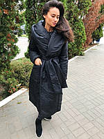 Плащевое пальто женское с большим воротником 3402146, фото 1
