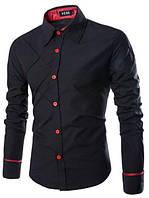 Модная мужская рубашка код 71 (черная)