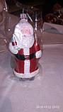 """Елочная игрушка фигурная """"Дед мороз с мешком"""" красная 7х15 см, фото 3"""
