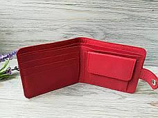 Портмоне  красные из натуральной кожи восточные узоры, фото 3