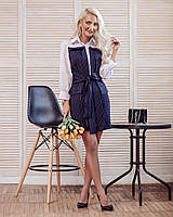 Офисное платье с имитацией двойки 20032018, фото 1