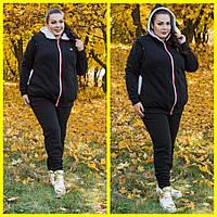 Теплый женский костюм батал с начесом и мехом 10151113, фото 1
