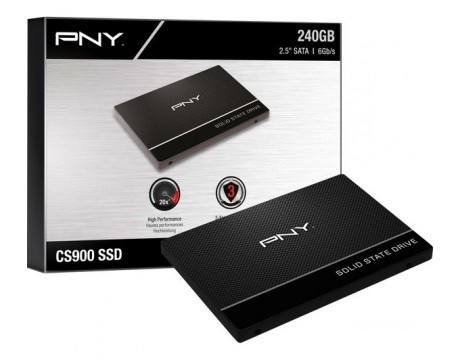 "SSD накопитель PNY CS900 240GB 2.5"" SATAIII TLC (SSD7CS900-240-PB) ""Over-Stock"""