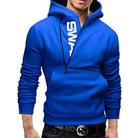 Мужская толстовка SWAN с косым воротом M-XXL синий код 74