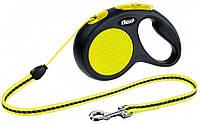 FLEXI NEON M 5м/20кг, трос - поводок-рулетка для собак